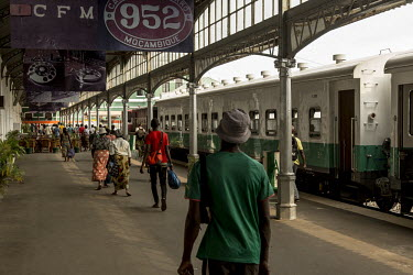 Africa, Mozambique, Maputo. 2016-02-17. A platform of the monumental railway station of the.../Ernst Schade