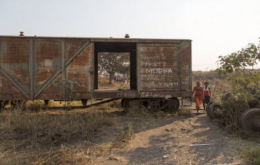 Africa, Mozambique, Manica province, Gondola. 2015-08-16. An abandoned train carriage at the former.../Ernst Schade