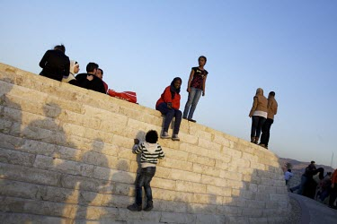 Photo: Mark Nozeman/ Cairo/ Egypt/ families and friends joining for a free day at Al-Azhar park.../Mark Nozeman