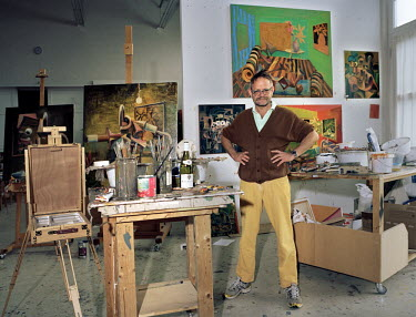 Manker, Germany, July 2017 Painter/Artist Anton Henning in his Studio in Manker./Marleen Daniels