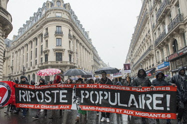 On March 17, 2018, thousands of people marched under the snow in Paris for the March of Solidarity.../Rose Lecat / Hans Lucas