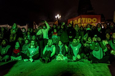 ARGENTINE - Popular meeting for the abortion law in front of the Senate. Rassemblement populaire en.../Anita Pouchard Serra
