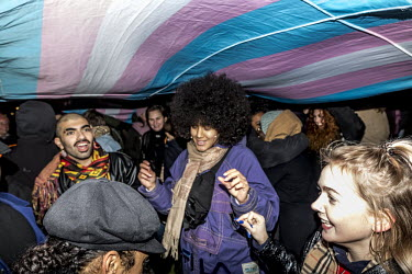 Amsterdam, Museumplein, Spontanous dance at the Trans Solidarity Rally. Netherlands, Amsterdam.../Daphne Channa Horn