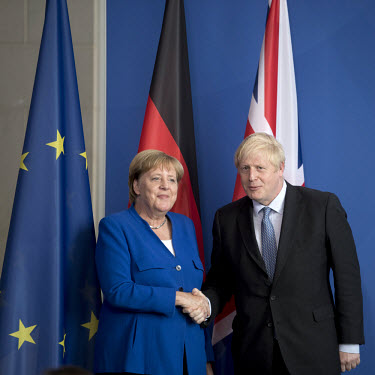 Boris Johnson, Angela Merkel/Stefan Boness / VISUM