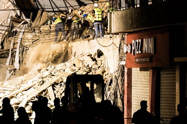 NO MORE HOPE AFTER THIRD DAY OF SEARCH FOR SURVIVOR UNDER THE RUBBLE IN BEIRUT/Karim Daher / Hans Lucas