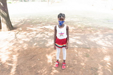 24092020 Johannesburg- Lesego is wearing a face mask during Heritage Day.  With Heritage Day.../Frank Trimbos