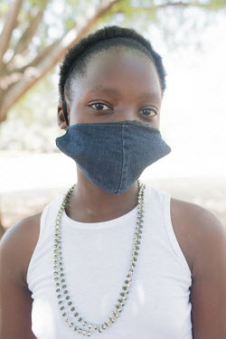 24092020 Johannesburg- Jabulile is wearing a face mask during Heritage Day.  With Heritage Day.../Frank Trimbos