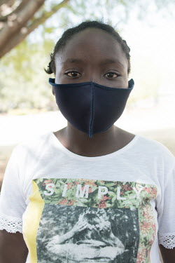 24092020 Johannesburg- Mathapelo is wearing a face mask during Heritage Day.  With Heritage Day.../Frank Trimbos