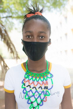24092020 Johannesburg- Refilwe is wearing a face mask during Heritage Day.  With Heritage Day.../Frank Trimbos
