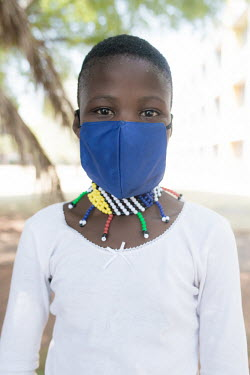 24092020 Johannesburg- Maserame is wearing a face mask during Heritage Day.  With Heritage Day.../Frank Trimbos