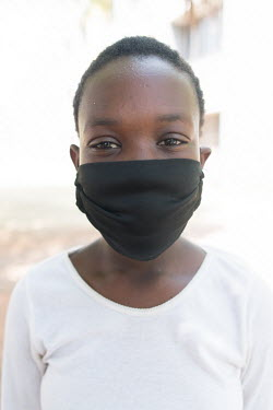 24092020 Johannesburg- Ntokozo is wearing a face mask during Heritage Day.  With Heritage Day.../Frank Trimbos