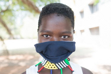 24092020 Johannesburg- Nomumelelo is wearing a face mask during Heritage Day.  With Heritage.../Frank Trimbos