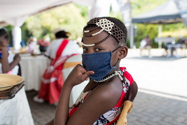 24092020 Johannesburg- A youngster is wearing a face mask during Heritage Day.  With Heritage.../Frank Trimbos