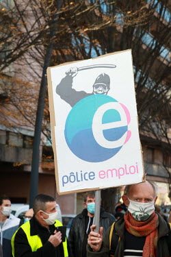 FRANCE - DEMONSTRATION AGAINST THE PROPOSED GLOBAL SECURITY LAW - TOULOUSE/Sandra Fastre / Hans Lucas