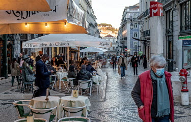 Lisbon. 2021-01-14. One day before a new and harsh lockdown due to a third wave of the Covid.../Ernst Schade