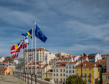 Portugal, Lisbon, Sao Bento. 2021-02-08. From January 1st till end June 2021, Portugal holds the.../Ernst Schade