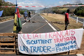 NEW CALEDONIA - SOCIETY - PROTESTS OVER THE SALE OF THE VALE NC PLANT/Th�o Rouby / Hans Lucas